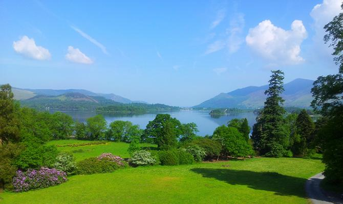 The inspiring view from Derwentwater Independent Hostel